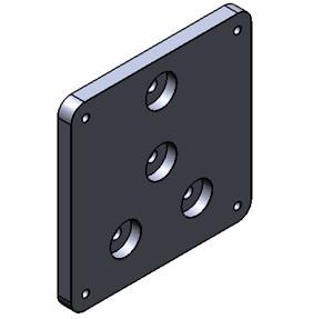 Base to Pier Adapter Plate for Paramount MX