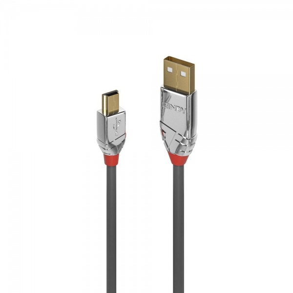 Lindy CROMO USB2.0 A to Mini B Cable